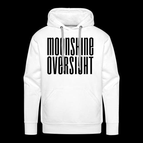 Moonshine Oversight noir - Sweat-shirt à capuche Premium pour hommes