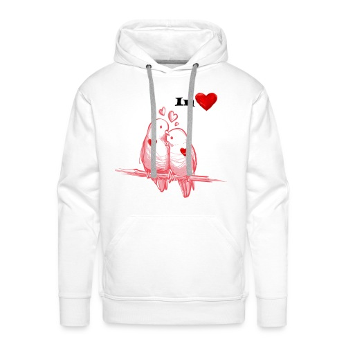 In love birds - Sweat-shirt à capuche Premium pour hommes