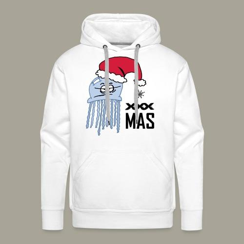 Qualle mit Weihnachtsmütze X MAS - Männer Premium Hoodie