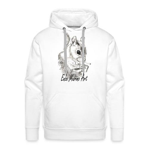 Ecureuil la clope - Sweat-shirt à capuche Premium pour hommes