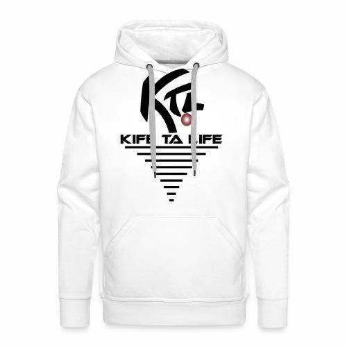KTL Noir VORTEX - Sweat-shirt à capuche Premium pour hommes
