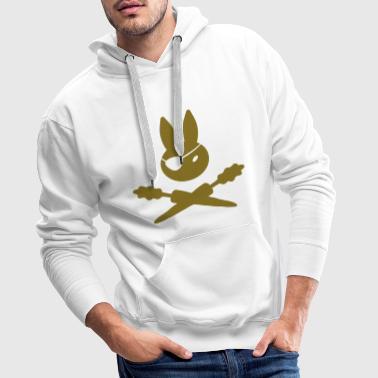 Bunny Pirate Marchew - Bluza męska Premium z kapturem