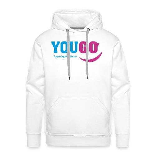 YouGo Blau-Magenta - Männer Premium Hoodie