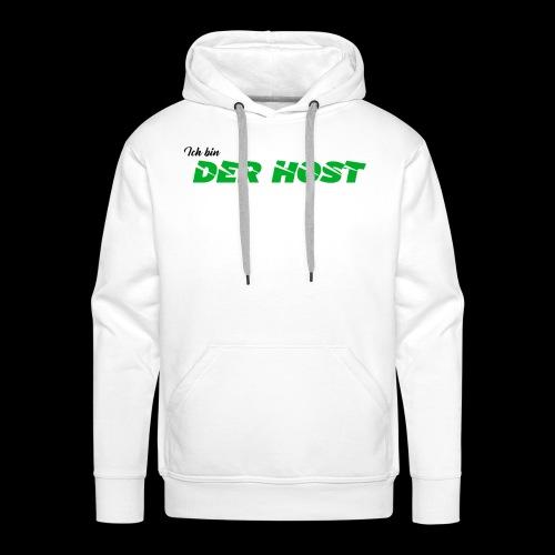 DER HOST (WEISS/GRAU) - Männer Premium Hoodie