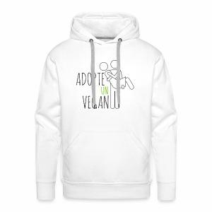 ADOPTE UN VEGAN - Sweat-shirt à capuche Premium pour hommes