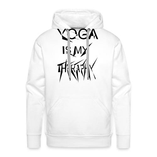 Yoga is my theraphy - Männer Premium Hoodie