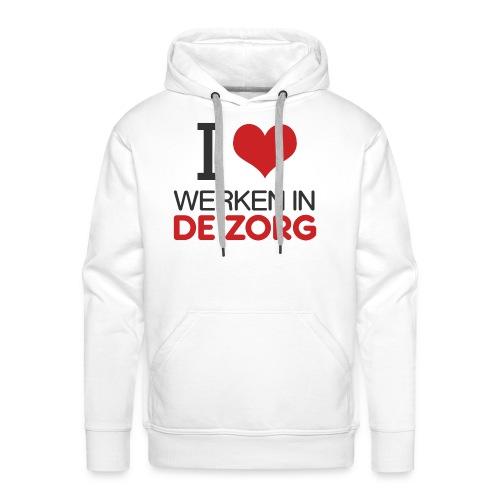 I LOVE Werken in de zorg - Mannen Premium hoodie