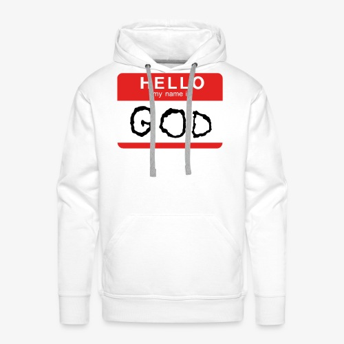 My name is GOD - Premiumluvtröja herr