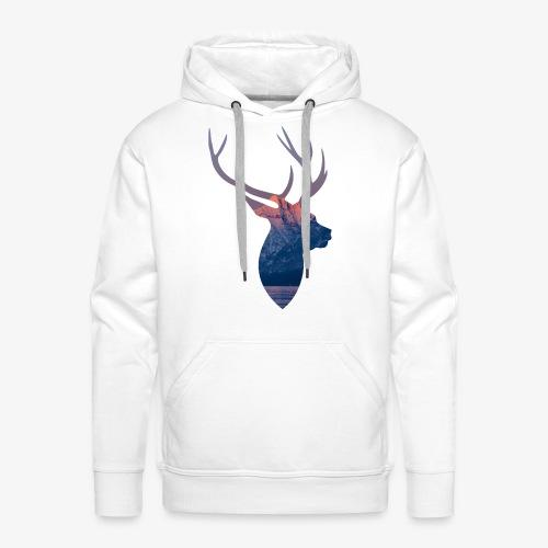 Hirsch T-Shirt - Männer Premium Hoodie