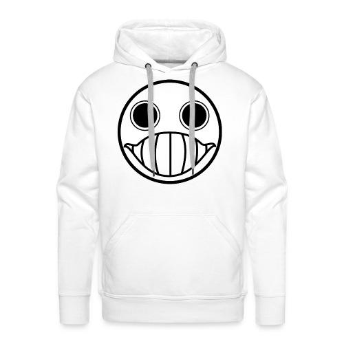 Crazy Cringe Smiley (Schwartz) - Männer Premium Hoodie
