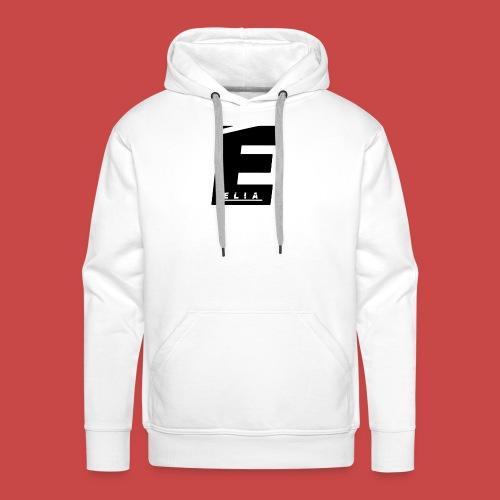Elia Logo - Schwarz - Männer Premium Hoodie