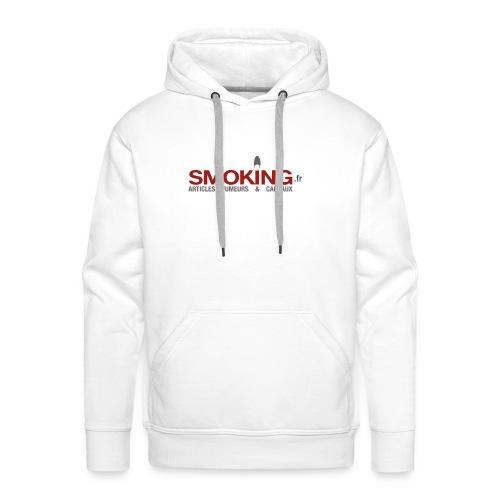 Logo Smoking.fr - Sweat-shirt à capuche Premium pour hommes