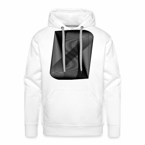 MOIRÉ II [Noir] - Sweat-shirt à capuche Premium pour hommes