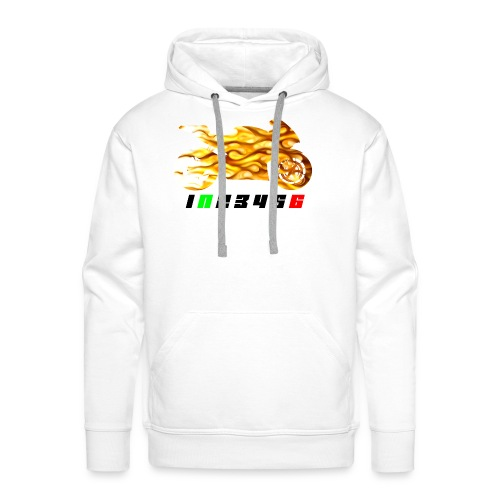 Mototrcycle flames - Men's Premium Hoodie