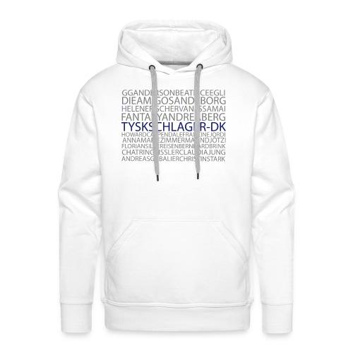 Schlagernavne - Herre Premium hættetrøje