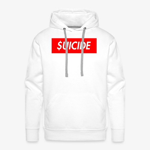 SUICIDE - Bluza męska Premium z kapturem