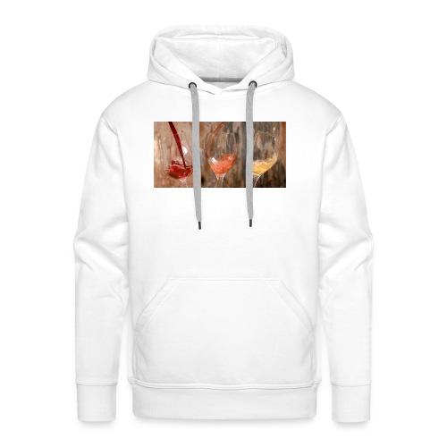LES 3 VINS 3F - Sweat-shirt à capuche Premium pour hommes