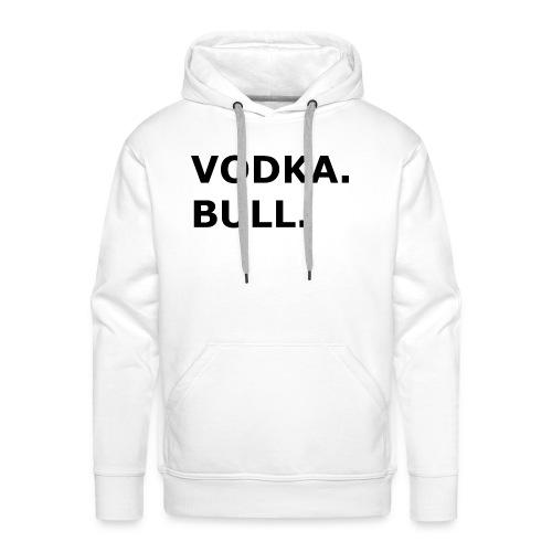 Vodka Bull Schwarz - Männer Premium Hoodie