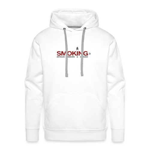 Logo Smoking.fr - Sweat-shirt à capuche Premium pour hommes