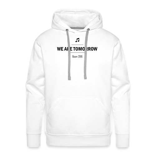 We Are Tomorrow Black - Sweat-shirt à capuche Premium pour hommes