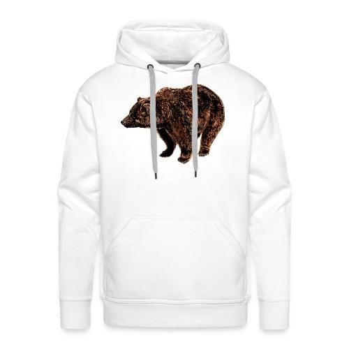 orso - Felpa con cappuccio premium da uomo