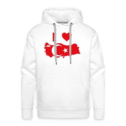 I LOVE TURKEY - Mannen Premium hoodie