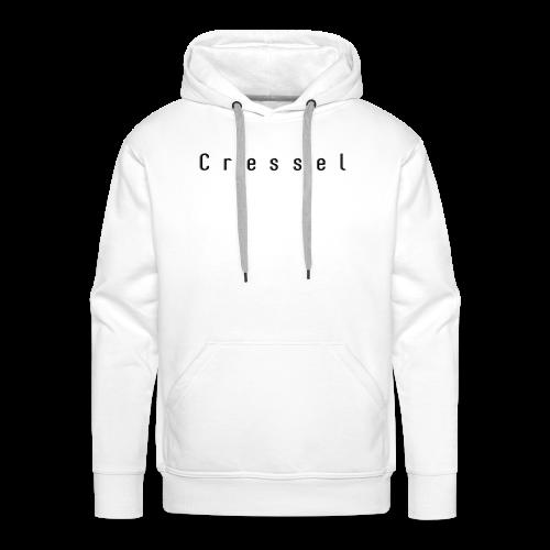 Cressel logo espacer noir - Sweat-shirt à capuche Premium pour hommes