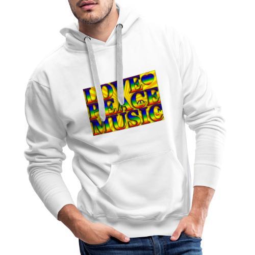 Love Peace and Music - Men's Premium Hoodie