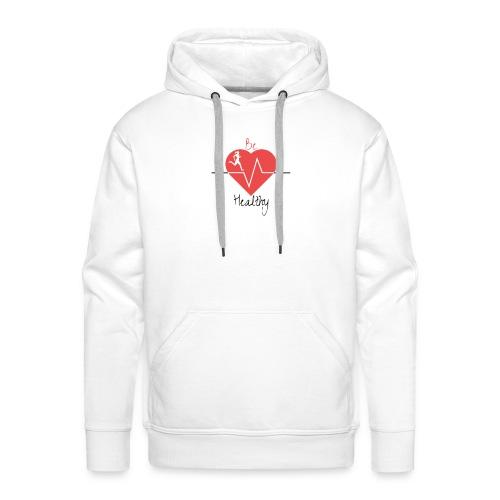 Logo Be Healthy - Sweat-shirt à capuche Premium pour hommes