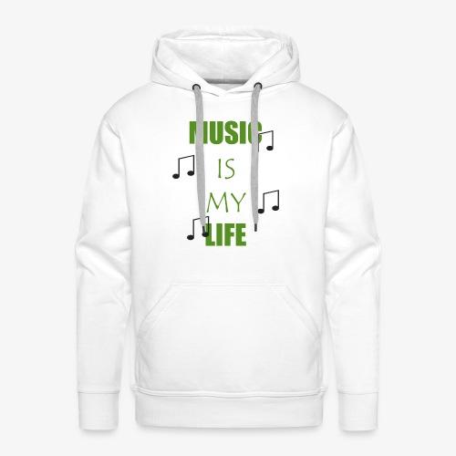 Music is my Life - Grün - Männer Premium Hoodie