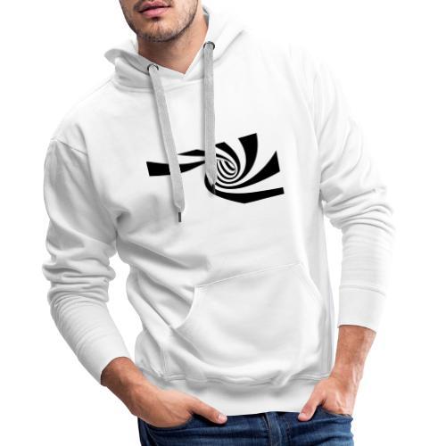 Schwarz - weiße Spirale - Männer Premium Hoodie