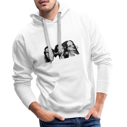 Drei Frauen - Männer Premium Hoodie