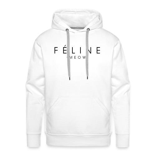 Féline - Sudadera con capucha premium para hombre
