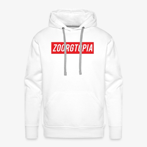 Zoorg Red Background - Men's Premium Hoodie
