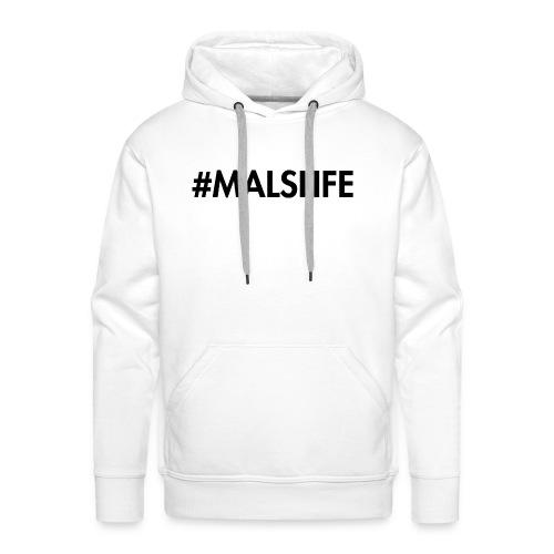 #MALSLIFE vrouwen - wit - Mannen Premium hoodie