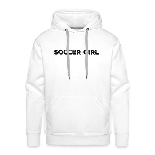 SOCCER GIRL LOGO SHIRT - Men's Premium Hoodie