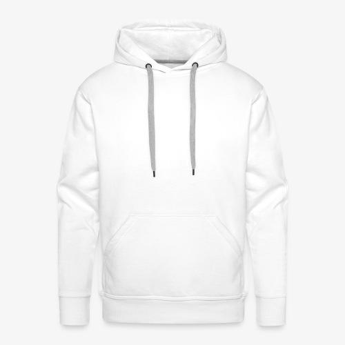 Schrift Weiss - Männer Premium Hoodie