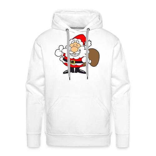 Santa_Cool01-png - Sudadera con capucha premium para hombre