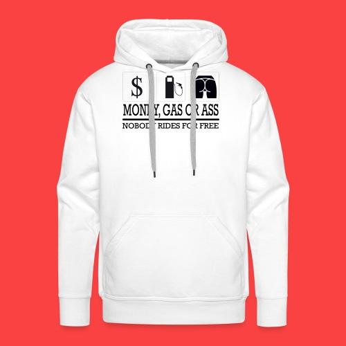 MONEY-GAS-OR-ASS - Sudadera con capucha premium para hombre