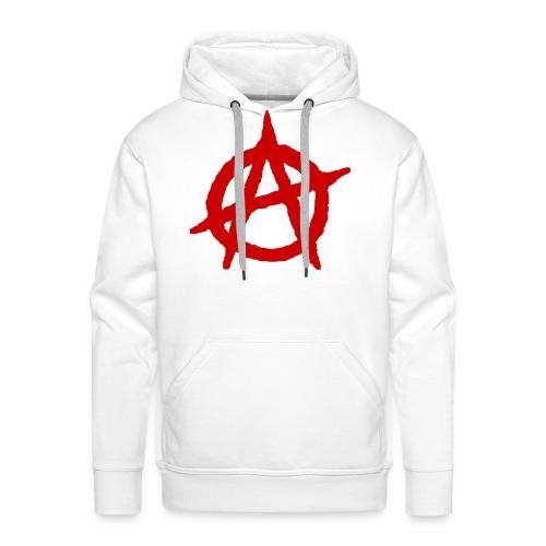 Anarchy logo rosso - Felpa con cappuccio premium da uomo