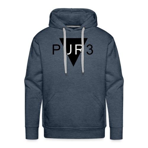 Pur3 grå hettegenser - Premium hettegenser for menn
