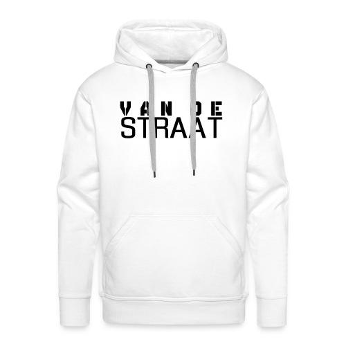 Van De Straat - Wit - Mannen Premium hoodie