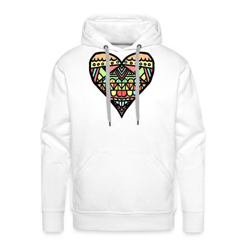 Heart - Sudadera con capucha premium para hombre
