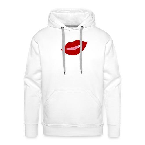 mujer_beso-png - Sudadera con capucha premium para hombre
