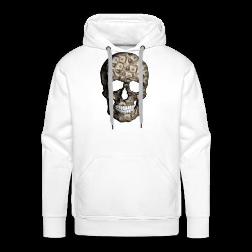 Skull Money Black - Sudadera con capucha premium para hombre