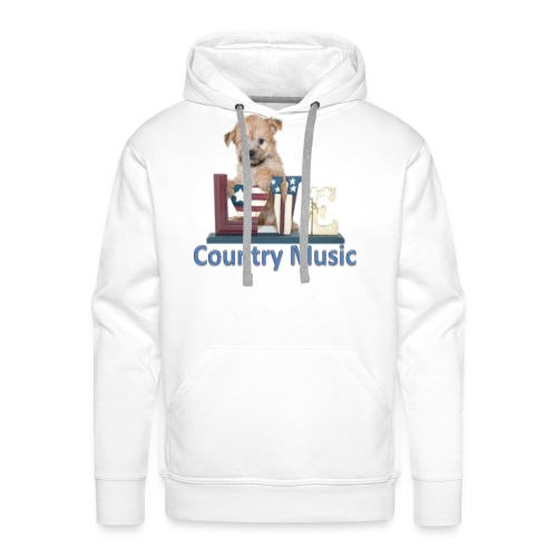 countrydog-png - Felpa con cappuccio premium da uomo