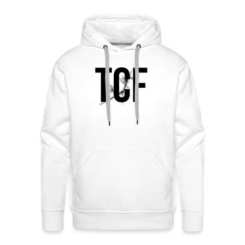 Cover i-phone 6/6plus scritta TCF nera - Felpa con cappuccio premium da uomo