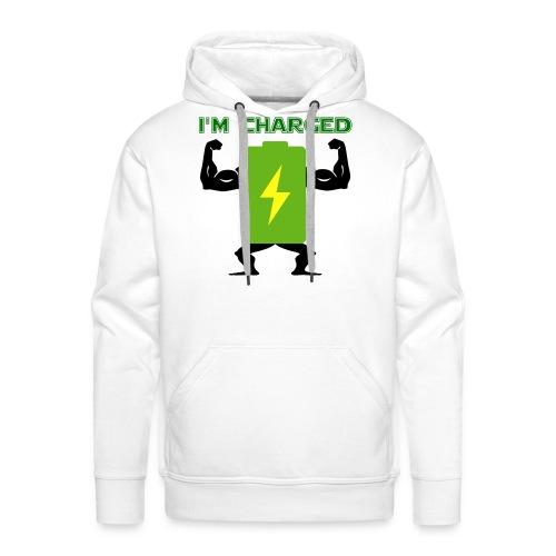 Battery charged - Sudadera con capucha premium para hombre