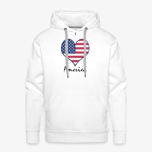 I Love America - Männer Premium Hoodie