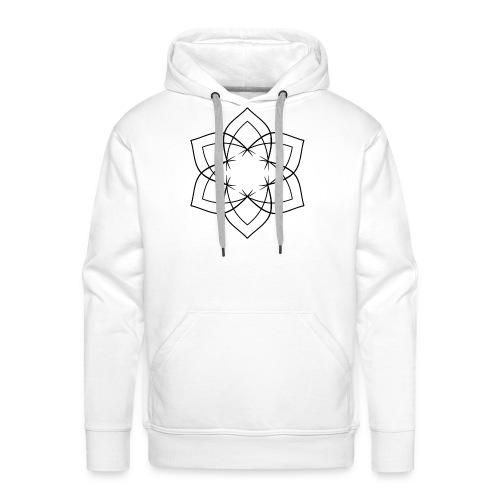 Mandala 6 Blätter schwarz - Männer Premium Hoodie